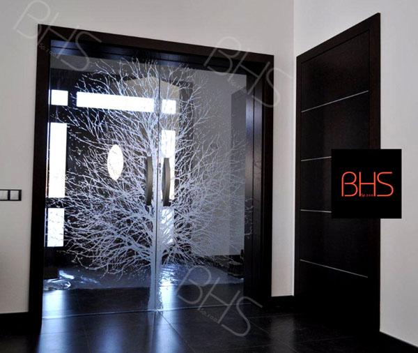 Drzwi Szklane Przesuwne Stropy Ze Szkła Wewnętrzne